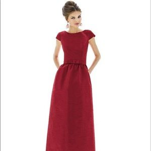 New Alfred Sung Barcelona Gown Dress Short Sleeve